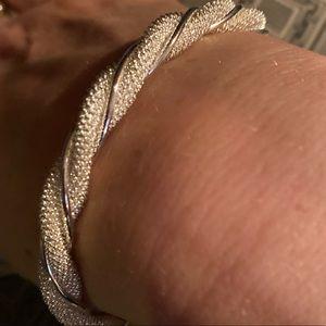Jewelry - Sterling Silver sparkling twisted bracelet